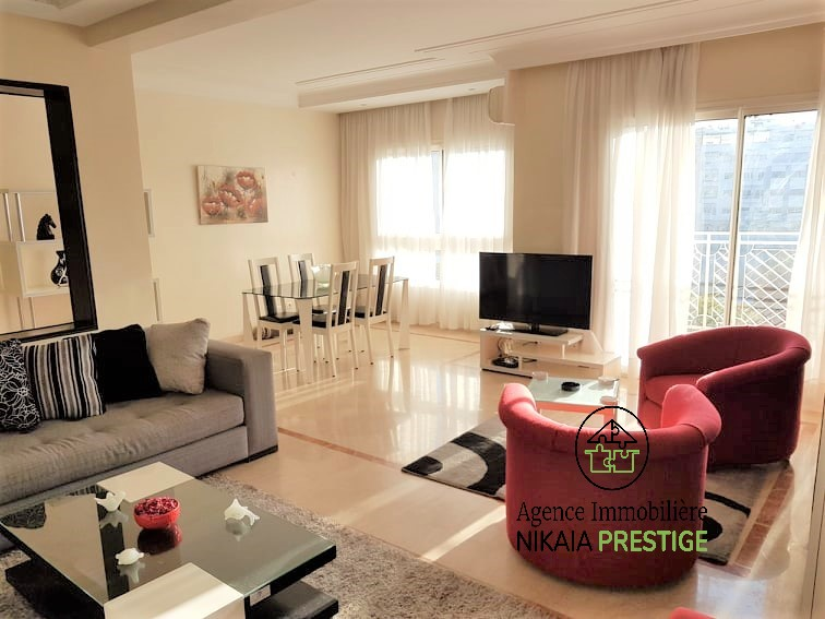Location appartement meublé de 110 m², 2 chambres, parking, quartier PRINCESSES, Casablanca 1 (1)